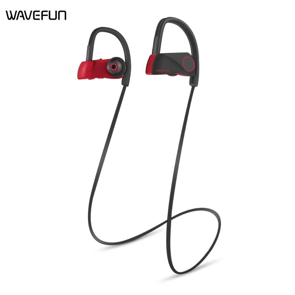 Wavefun Super X Sans Fil Casque Lourd Super Bass Stéréo avec Mic IPX7 Étanche CSR8635 120 mah Bluetooth 4.1 Sport Écouteurs