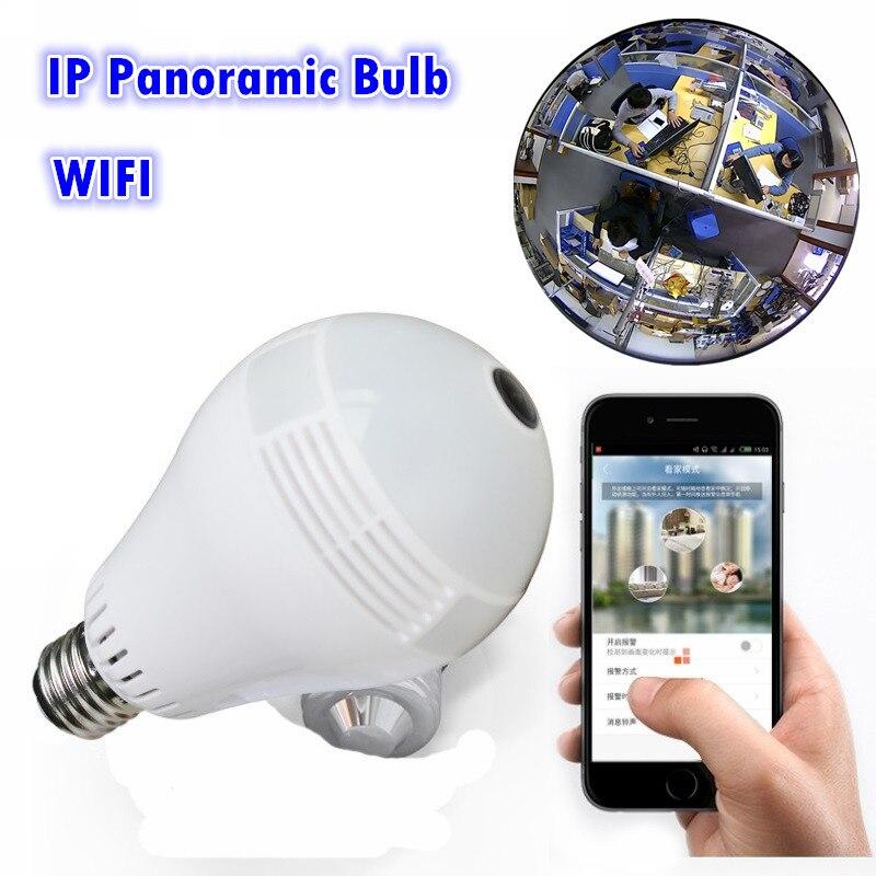 wireless network msd memory bulb ip network VR 360 Fisheye Panoramic light  Camera network led light bulb camera vr 360 degrees wifi3d fisheye panoramic light camera network led