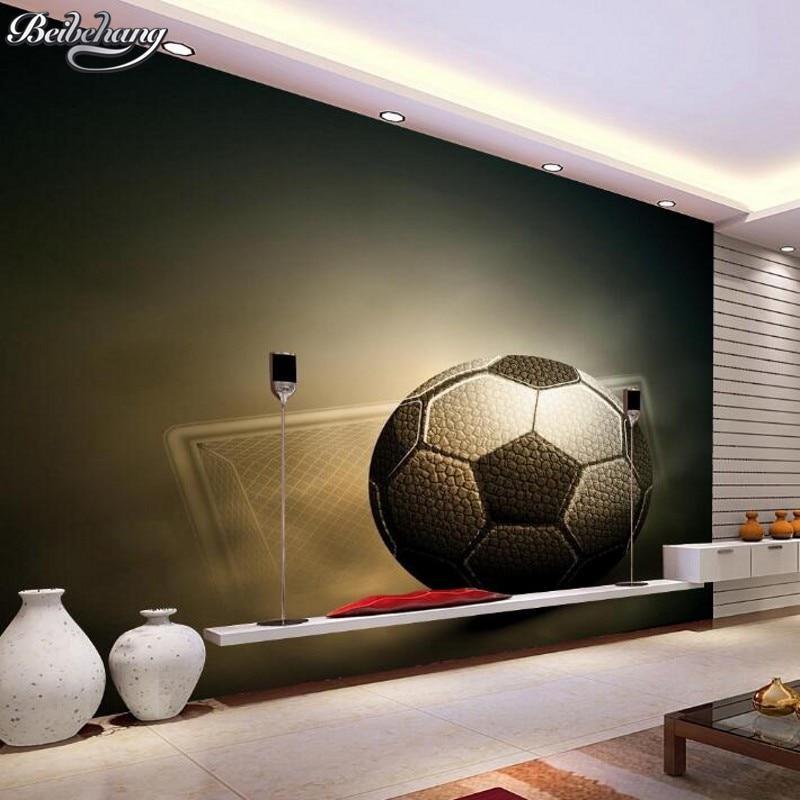 3d Wallpaper For Bedroom Walls Beibehang 3d Football Wallpaper Sport Photos Wallpaper