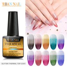 Rainbow Thermal Color Changing Gel Nail Polish Uv Semi Permanent Primer Top Coat 8 ml Glitter Varnish Art Manicure