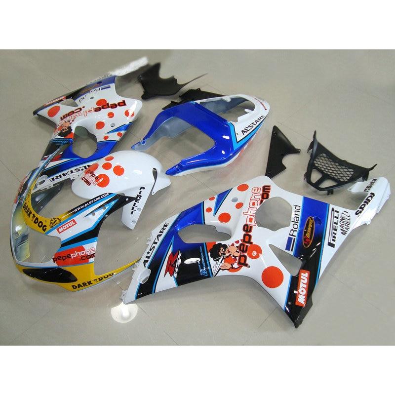 Lowest price fairings set for SUZUKI K2 00 01 02 GSXR 1000 fairing kit GSX-R1000 2000 2001 2002 white blue DARK DOG bodykit LR44 2 2 4 2018 02 18t17 00