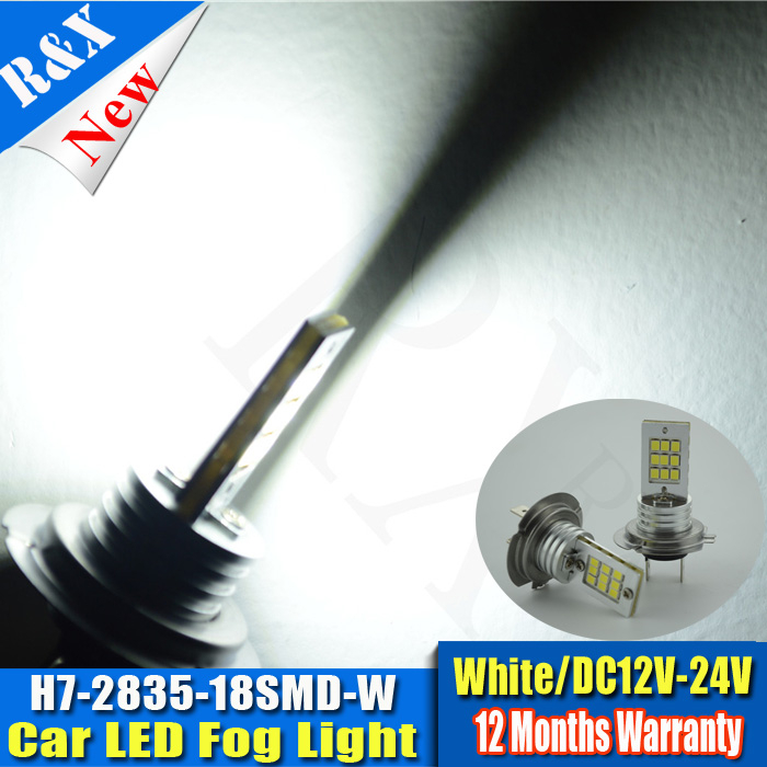 Best Price H7 18 LED 2835 SMD Super White Car Auto Light Source Fog DRL Headlight Bulb Lamp DC12-24V H8/H11/9005/9006 1156/1157 l20121211 1 h7 12w 600lm 6500k 4 smd 7060 led white light car dipped headlight dc 12v