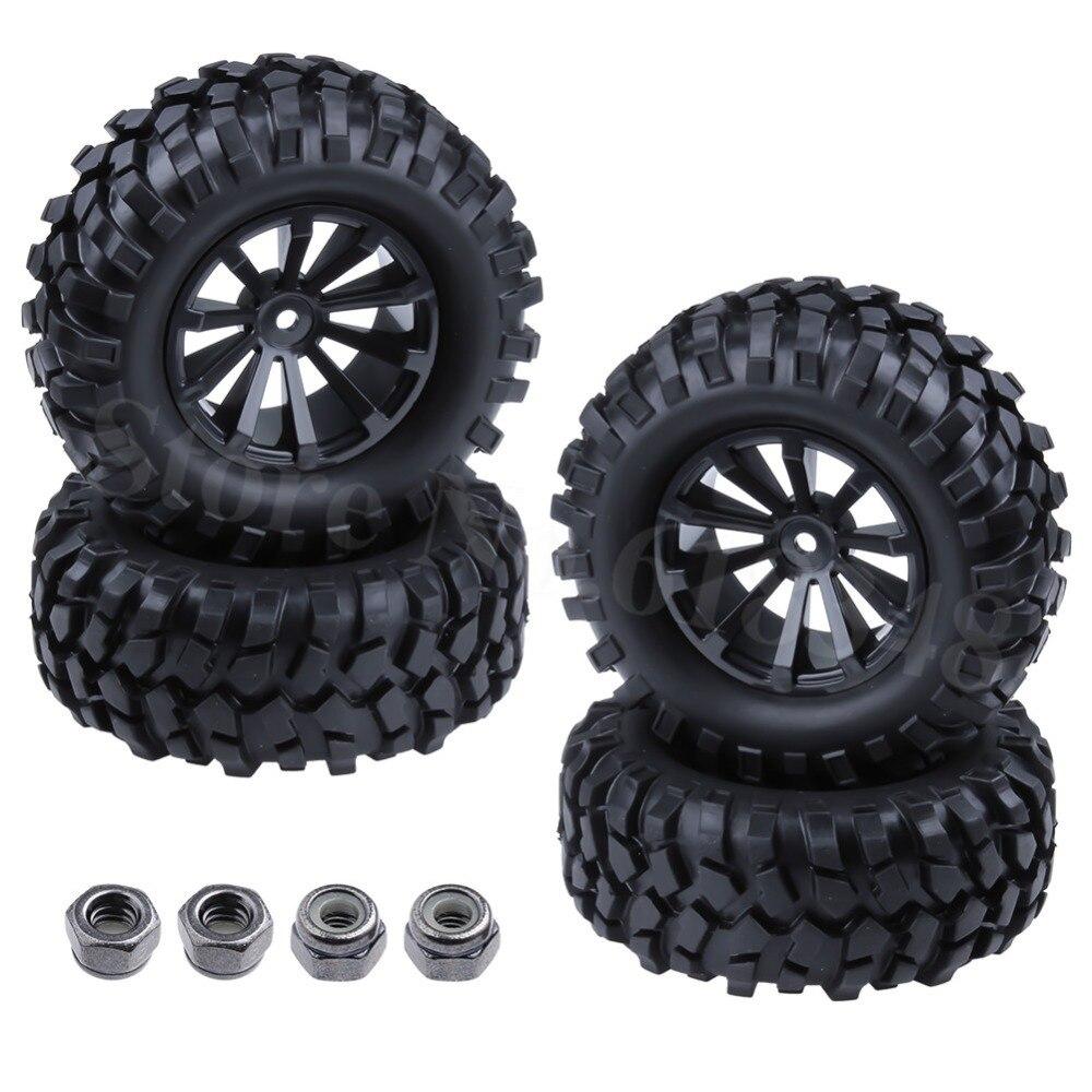 "4pcs 1//10 1.9/"" roue 125mm OD pneu pneu pour HSP HPI Redcat RC Rock Crawler C"