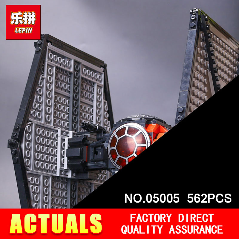Lepin 05005 562Pcs STAR 75101 special forces tie fighter model Building Blocks Bricks toys for children gifts WARS new 1685pcs lepin 05036 1685pcs star series tie building fighter educational blocks bricks toys compatible with 75095 wars