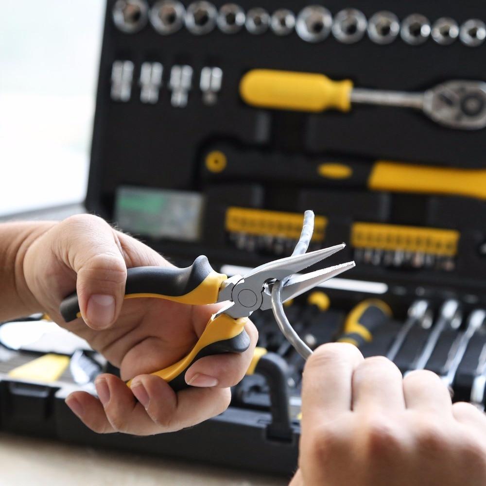 DiscountßDEKO Hand-Tool-Set Screwdriver Knife Socket-Wrench Storage-Case Toolbox Plastic Household