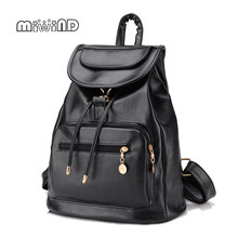 Miwind Лидер продаж Женская сумка-рюкзак женщины шнурок мешок Бесплатная доставка школьные сумки для подростков кожаный рюкзак
