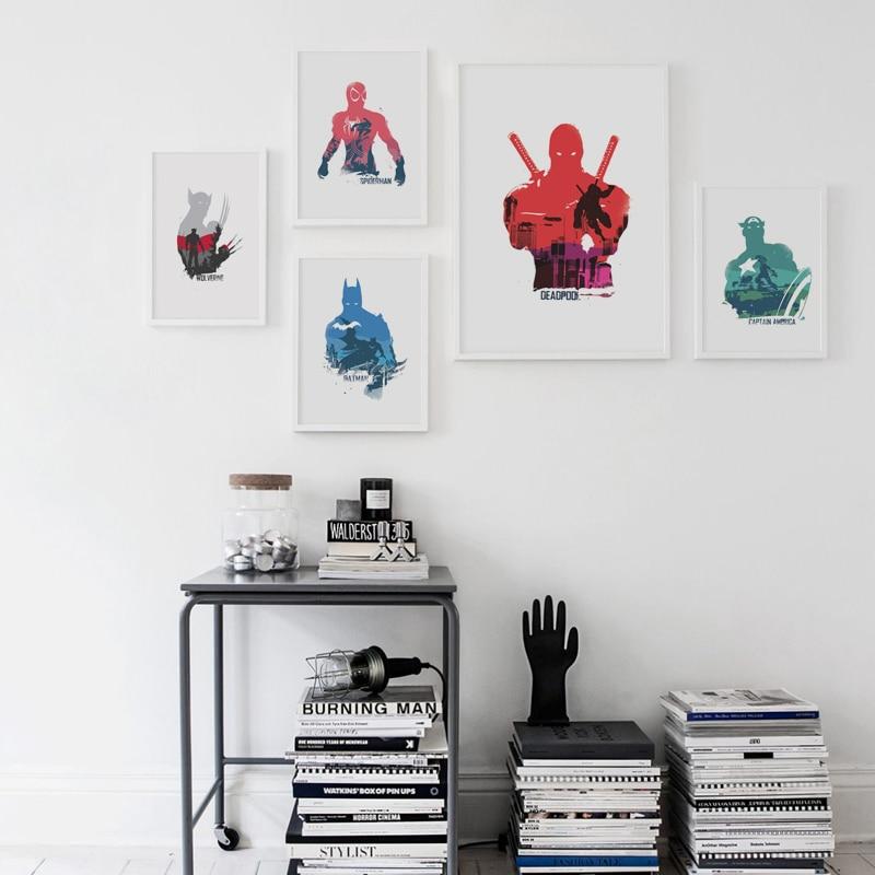 Komike me poezi elegante Superhero Werewolf Kapiten Spiderman A4 - Dekor në shtëpi - Foto 4