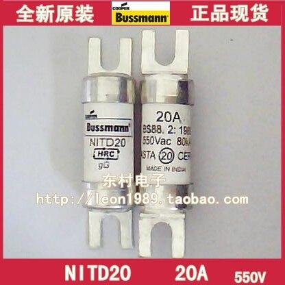 [SA]United States BUSSMANN Fuses BS88 2: 1988 550Vac 80KA ND20 20A fuse--5PCS/LOT[SA]United States BUSSMANN Fuses BS88 2: 1988 550Vac 80KA ND20 20A fuse--5PCS/LOT