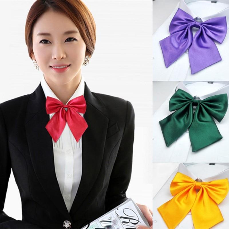 New Women Cravat Formal Dress Butterfly Bow Tie Female Adult Girl Student Hotel Clerk Waitress Neck Wear Silk Ties