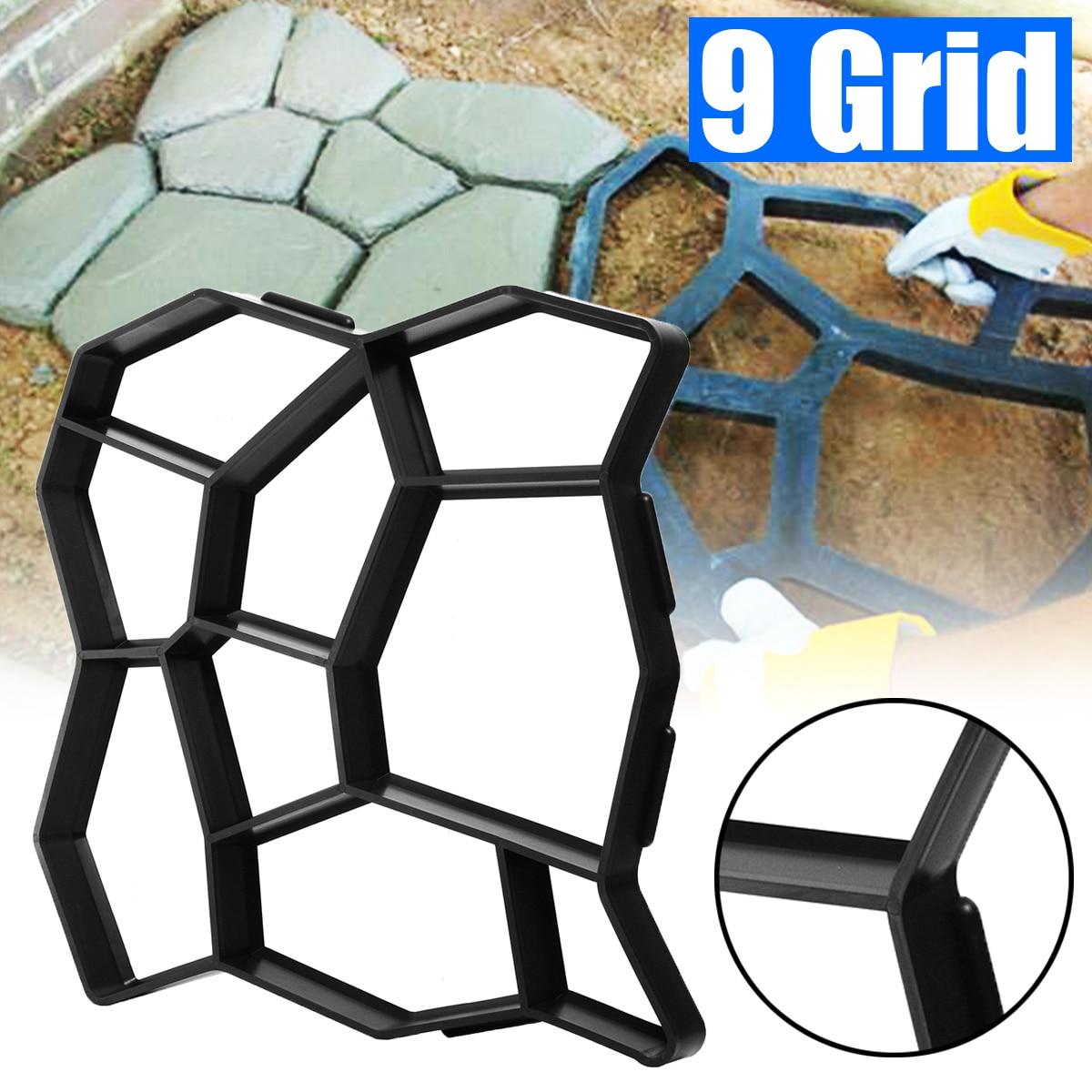 50*50*4.5cm DIY Paving Mold Stepping Stone Concrete Floor Path Maker Mould Pavement Driveway Patio Paver Path Garden Design