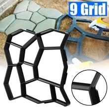 50*50*4.5cm DIY kostki brukowej kamień rzeczny betonowa podłoga ścieżka Maker Mold bruk podjazd wyłożenie tarasu ścieżka ogród projekt