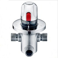 Free Shipping (G1/2) Brass Thermostatic Valve, Water Temperature Thermostatic Mixer Valve,thermostatic shower valve