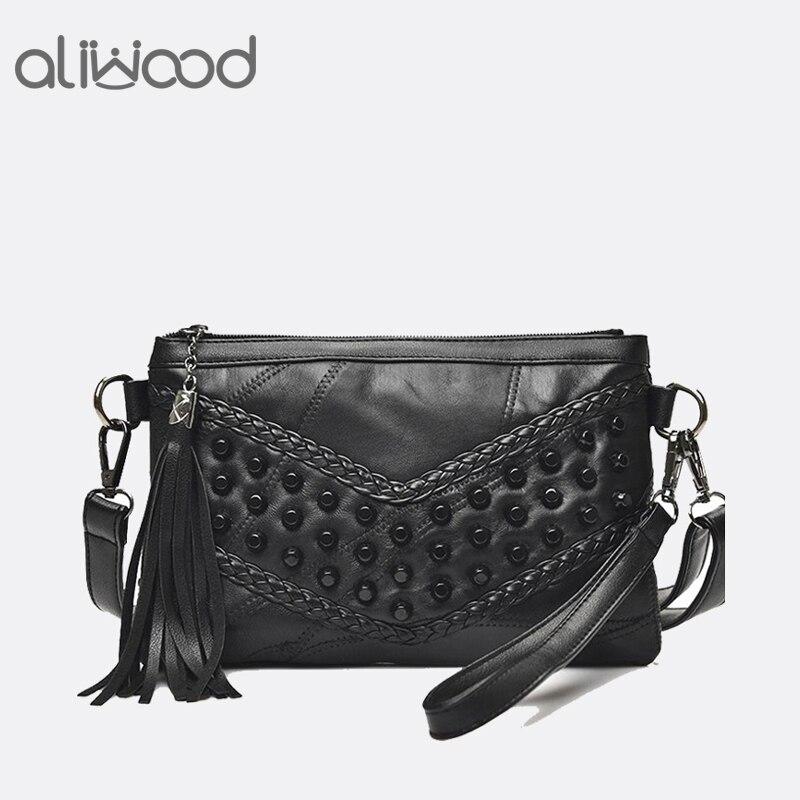 Mode Quaste frauen Taschen Luxus Fransen Handtaschen Aus Echtem Leder Frauen Umhängetasche Für Mädchen Umhängetasche Frauen Kupplungen