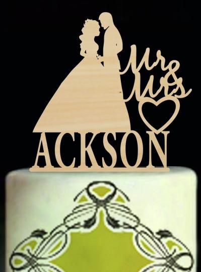 Personalised Wedding font b Cake b font font b Toppers b font font b Cake b