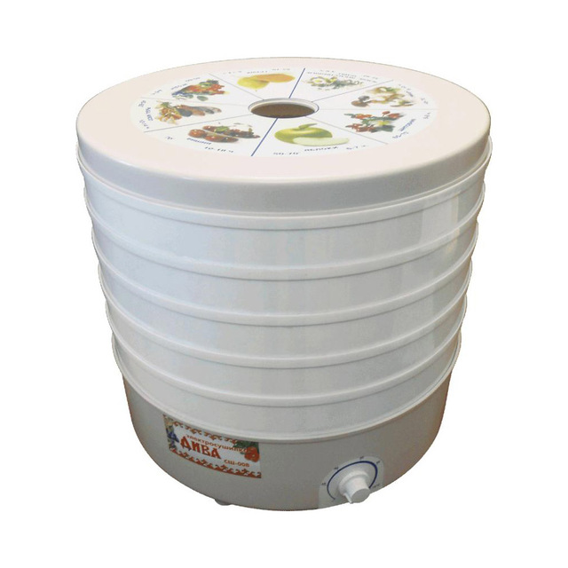 Электрическая сушилка Чудесница СШ-008 (Мощность 520 Вт, 5 ярусов, объем 25 л, температура до 70°С, терморегулятор)