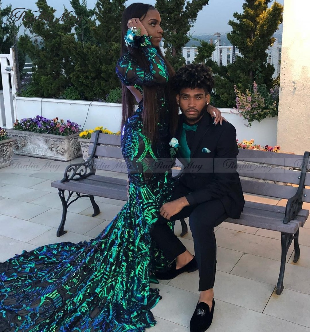 Mega Sale Sparkly Sequined Emerald Green Mermaid Prom