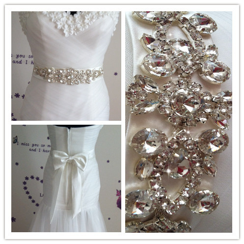 Handmade Stunning Bridal Sash 2017 Sparkly Luxurious Crystal Rhinestone Wedding Belt