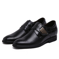 Brown Tan Black Height Increasing Loafer Mens Business Shoes Genuine Leather Wedding Shoes Mens Dress Shoes