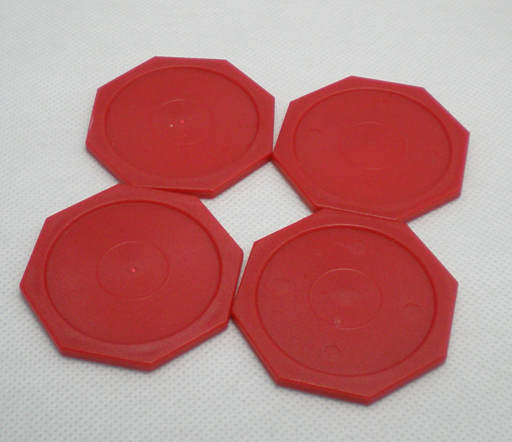 Free Shipping 4pcs/lot Hexagon RED Air Hockey Table Pusher Puck 63MM 2-1/2