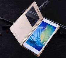 Auto sleep Luxury Flip Leather Case FOR samsung GALAXY A5 A500F A500M A500G A5000 Smart View Phone bag Case Cover