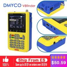 DMYCO V8 Finder DVB-S2 DVB-S FTA Digital Satellite SatFinder Meter HD Satellite Finder Tool TFT LCD Sat Finder lnb Signal Meter