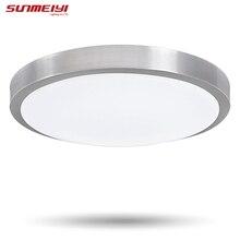 New! СВЕТОДИОДНЫЕ светильники потолочные D350mm, алюминий + Акрил AC85V ~ 265 В Теплый белый/Холодный белый Светодиодные Лампы для дома. балкон огни Бесплатная Доставка