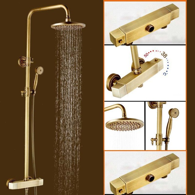 Bathroom Thermostat Shower Set Outdoor In wall Shower Faucet Set Two ...