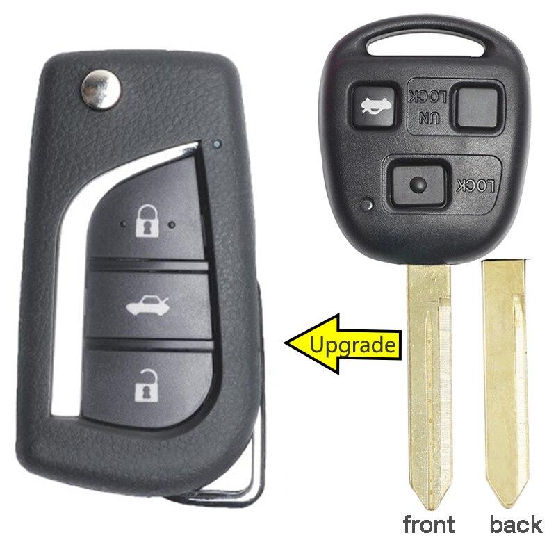 pour Toyota 2 Boutons Porte Clé Télécommande Corolla Celica Avensis