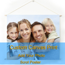 Custom Photo Canvas Poster with Wood Hanger Framed Print Art Wall Pop Eigen Foto Op Oil
