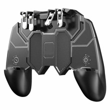 Six Finger All-in-One Mobile Game Controller AK66 Free Gaming Fire Key Button Joystick Gamepad L1 R1 Trigger for PUBG For IPhone