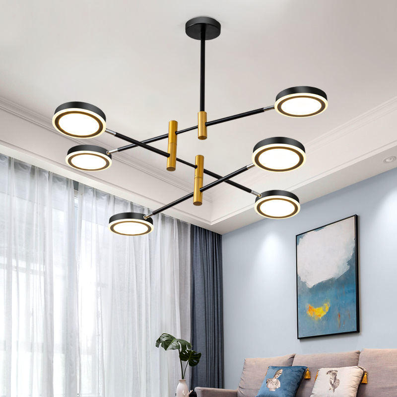 Modern white/black LED chandelier lighting Acrylic  hanging lamp Nordic Art Deco Bedroom Restaurant living room Home fixtures|Chandeliers| |  - title=