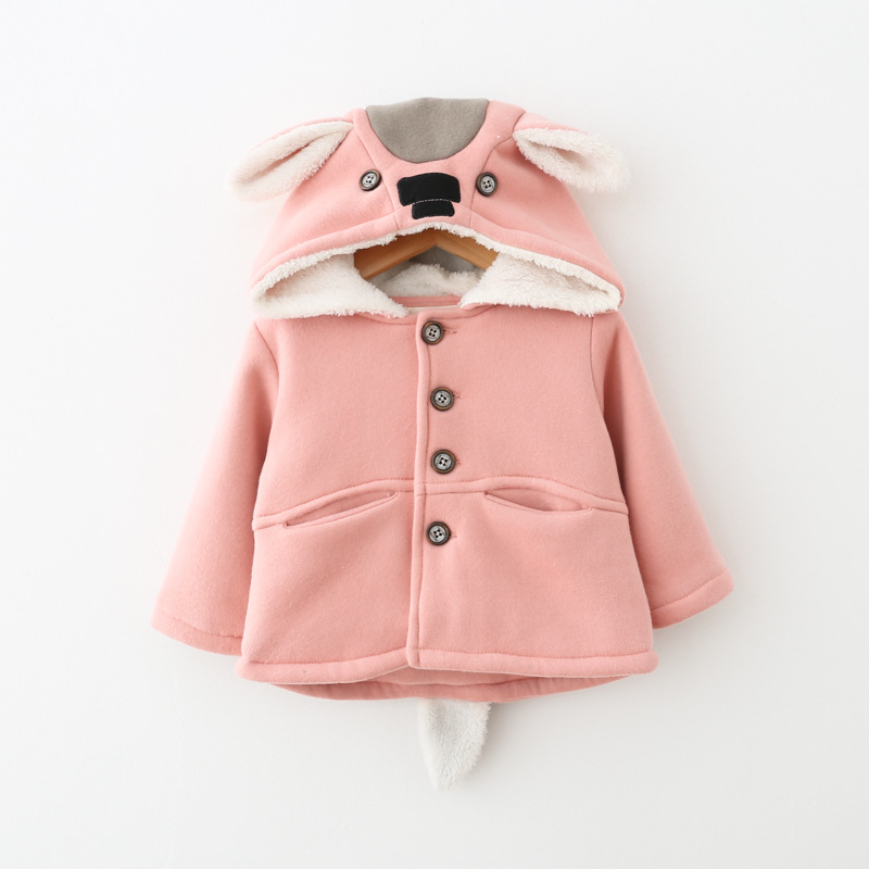 0e745b6539db Newborn Baby Coats Baby Girls Clothing Cotton Outerwear Cartoon ...