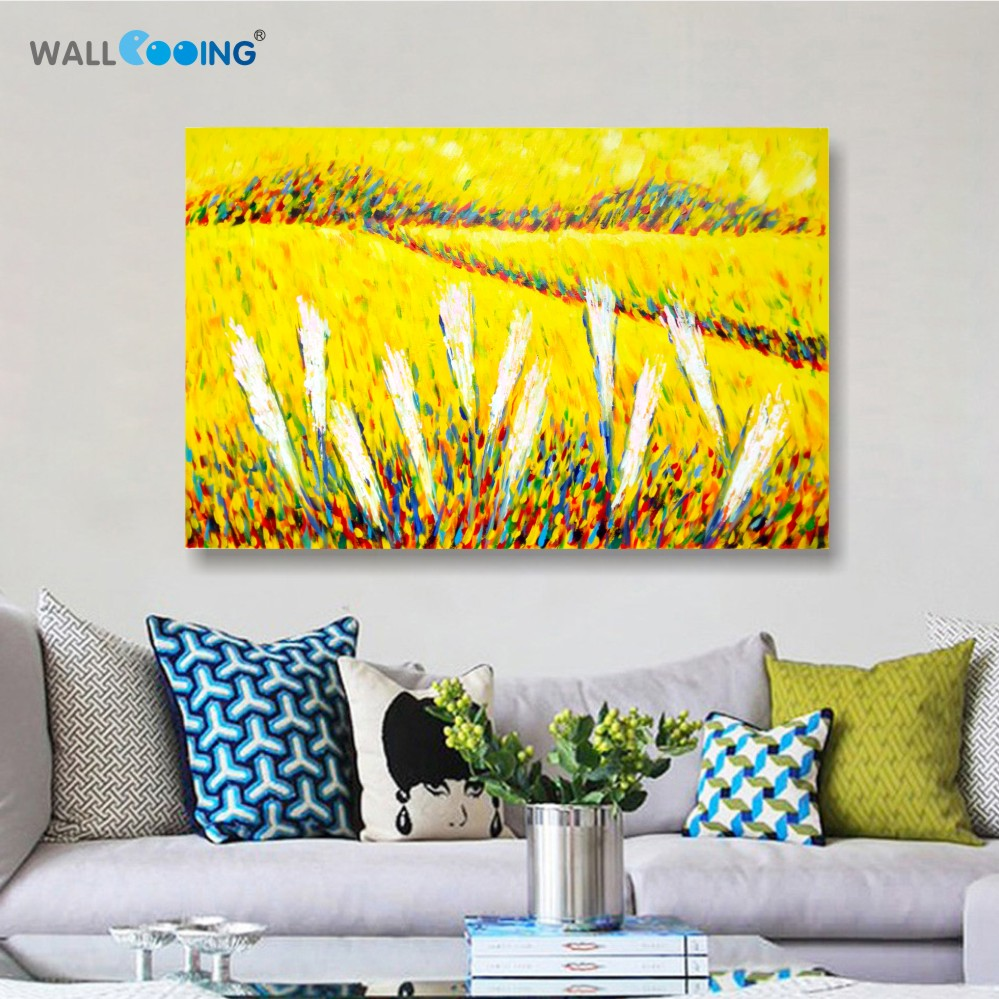 100% Hand-painted canvas painting artist Van Gogh paddy paint palette - Home Decor - Photo 2