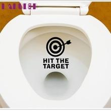 Characters DIY bathroom Toilet Sticker Waterproof hit the Target Toilet Seat Bathroom Sticker Wall Decal Art JAN26