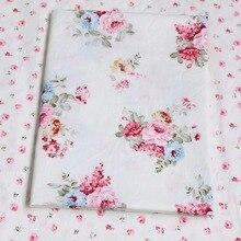 100% bawełna poeny duszpasterska wydrukowano floral twill tkanina diy dzieciak lalka szopka pościel poduszki handwork sukienka patchwork telas tkanina(China (Mainland))