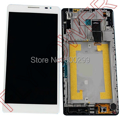 For Huawei Ascend mate MT1 U06 LCD Screen Display with Touch Screen Digitizer Assembly+frame by free shipping; White color; HQ brand new lcd display touch screen digitizer assembly for huawei ascend p8 lite replacement parts