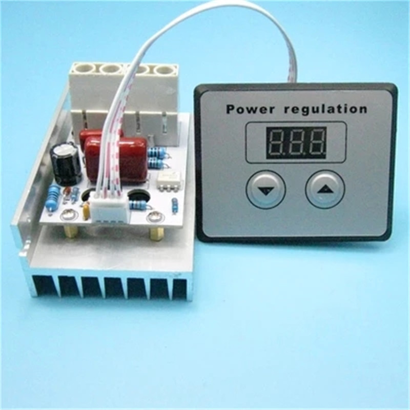 10000W SCR Digital Voltage Regulator Speed Control Dimmer Thermostat AC 220V 80A new 10000w import scr super power electronic digital regulator dimmer speed thermostat