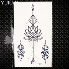Beauty Feather Temporary Women Tattoo Chest Stickers Girls Christmas Gifts Water Transfer Tattoo Lotus Fake Tatoo Body Hands Art