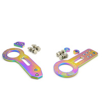 Anodized Universal Front Rear Tow Hook Billet Aluminum Towing Kit For Racing