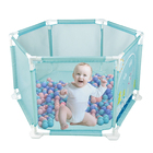 Outdoor/Indoor Portable Baby Playpen Ball Pool Play Tent Kids Safe Foldable Playpens Baby Play Yard Activity Playpens for Kids