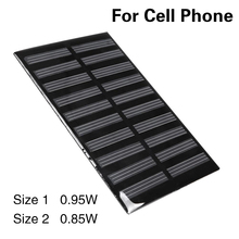MVpower Portable 0.95W 5V Film Solar Panel Supply Power Bank Cells Peel Stick Phone Battery Charge Solar Cell Charging Outdoor