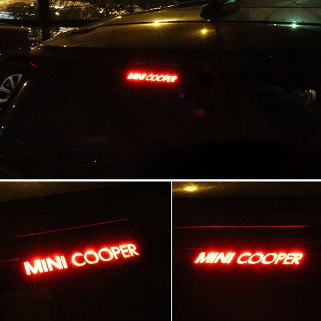 Mini F55 R56 F56 R60 Car Carbon Fiber Vinyl Brake Lights Decorative Cover High Mount Stop Lamp Stickers Cooper S Countryman