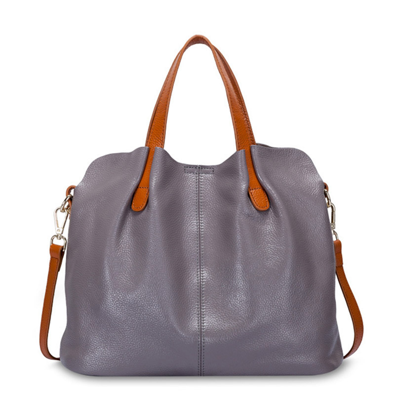 New Fashion Handbag Women's Genuine Leather Handbag Women Shoulder Bags Designer Brand Female Handbags High Quality Women's Bags 2017 new female genuine leather handbags first layer of cowhide fashion simple women shoulder messenger bags bucket bags
