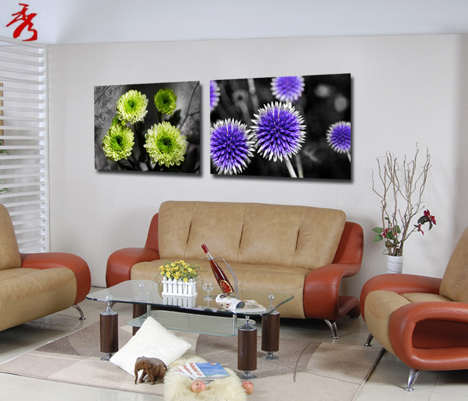 Aliexpress com   Buy Green Purple Flowers Canvas Printing Paintings 60x40cm  Home Modular Picture for living room Wall Art Unframed Decor No Frame from. Aliexpress com   Buy Green Purple Flowers Canvas Printing