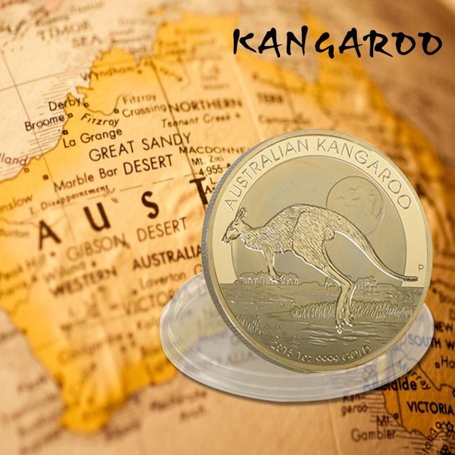 US $3 5 |2016 Australia ELIZABETH II 100 Dollars Metal Coin Australian  Kangaroo 1 OZ 9999 Gold Coin Worth Collection-in Non-currency Coins from  Home &