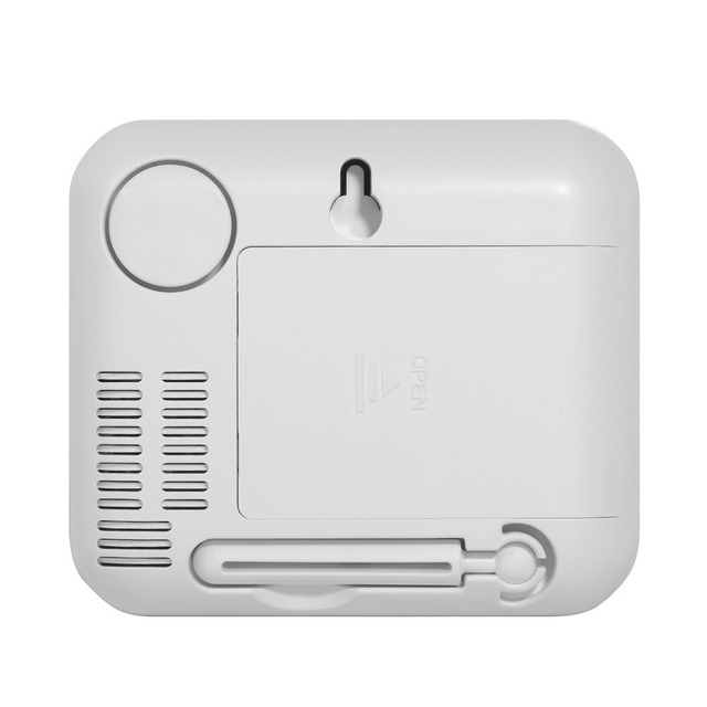 KERUI wireless LED Display Adjustable temperature and humidity Alarm sensor Detector protect the personal and property safety.