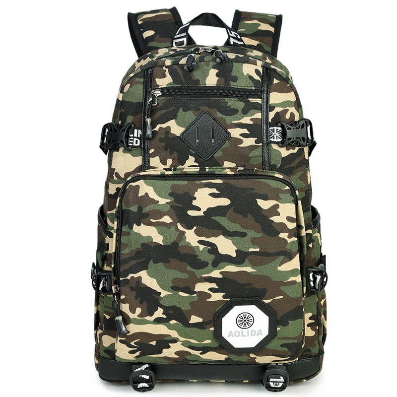 Male Backpack Camouflage Male Canvas Backpack Printing Men Travel Bags Boy Youth Backpacks for Teen Boys Mochila Masculina fashion camouflage printing tank top for men