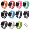 DHL 100pcs/lot Soft Silicone Rubber Wristband Sports Watch Band Wrist Strap for Fitbit Blaze with Metal Buckle Wholesale
