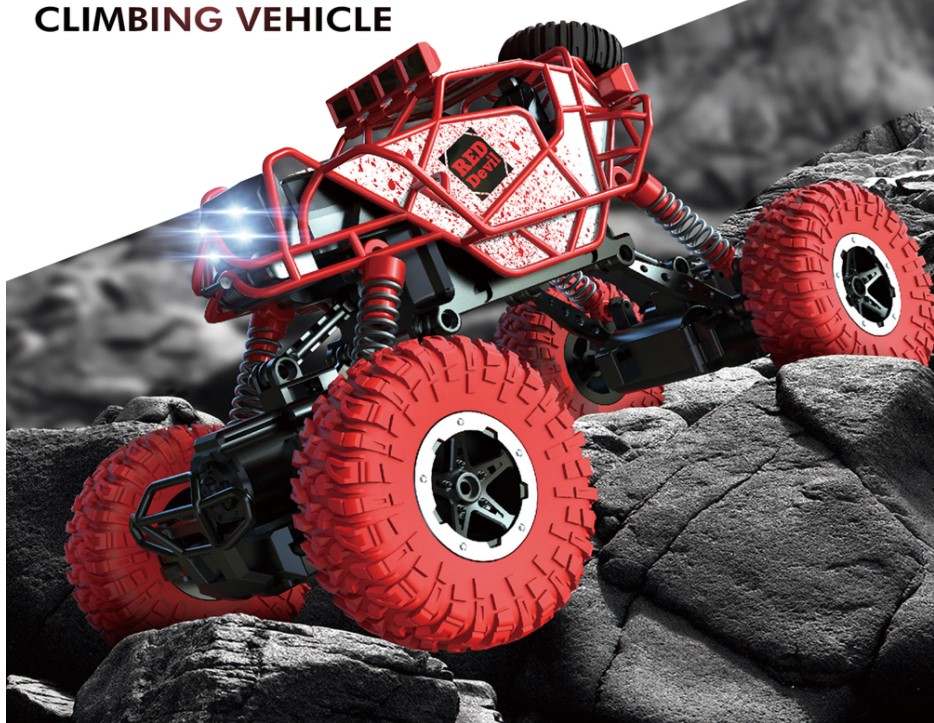 RC Car 4WD Remote Control Car cool Rock Climb Car Off-Road Vehicle Bigfoot car 1:43 mini Children Toys