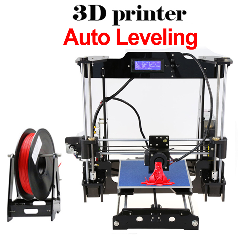 DMYCO Auto level & Normal Anet Full Acrylic High Precision Reprap Prusa I3 DIY 3D Printer KIT& Filament &LCD &8G SD Card Free